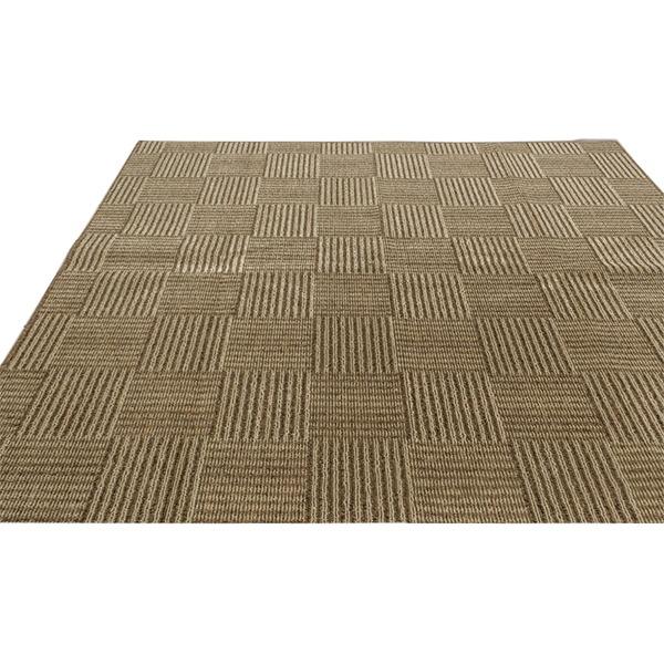 フリーカット 抗菌 防臭 カーペット 絨毯 / 江戸間 2畳 176×176cm / ベージュ 平織り 『チェックモア』 九装:ユニクラス オンラインショップ
