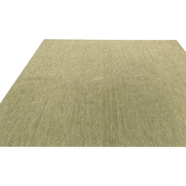 フリーカット 抗菌 防臭 カーペット 絨毯 / 江戸間 8畳 352×352cm / グリーン 平織り 『シアトル』 九装