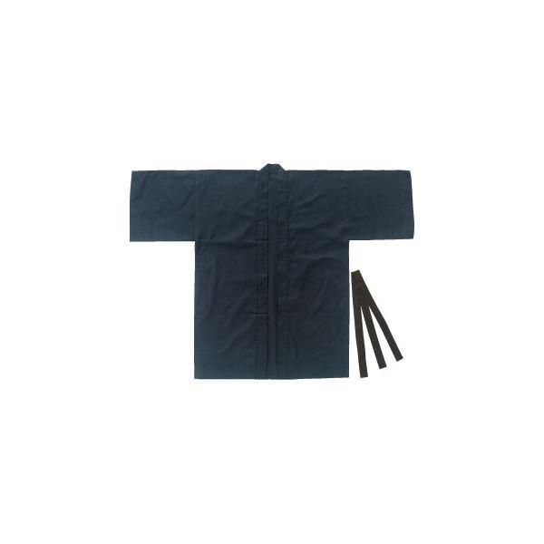 (まとめ)アーテック カラー布製はっぴ/法被 【大人用 Lサイズ】 綿100% ブラック(黒) 【×5セット】