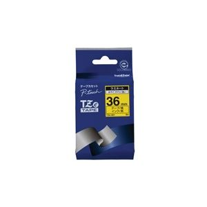 (業務用20セット) brother ブラザー工業 文字テープ/ラベルプリンター用テープ 【幅:36mm】 TZe-661 黄に黒文字
