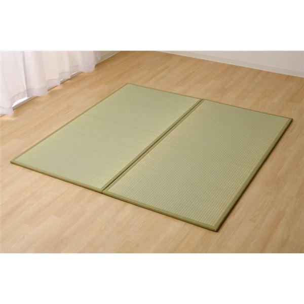 置き畳 1畳 国産 い草ラグ 『あぐら』 ナチュラル 約82×164cm 2枚組