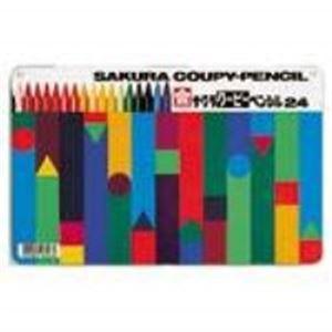 (業務用20セット) サクラクレパス クーピーペンシル FY24 24色 缶入