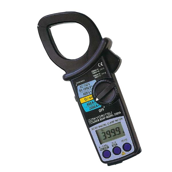 共立電気計器 キュースナップ・AC/DC電流測定用クランプメータ 2003A【代引不可】
