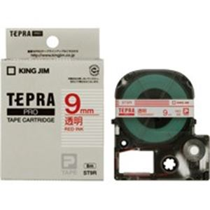 (業務用50セット) キングジム テプラPROテープ/ラベルライター用テープ 【幅:9mm】 ST9R 透明に赤文字