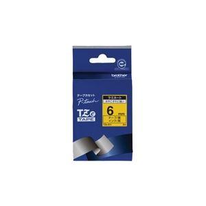 (業務用30セット) brother ブラザー工業 文字テープ/ラベルプリンター用テープ 【幅:6mm】 TZe-611 黄に黒文字