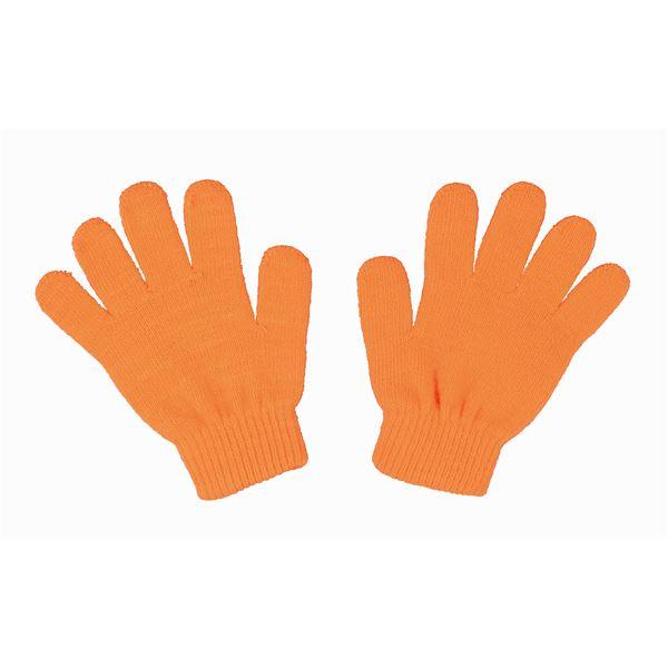 (まとめ)アーテック カラーのびのび手袋 【子供用サイズ】 アクリル製 蛍光オレンジ 【×40セット】