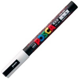 (業務用200セット) 三菱鉛筆 ポスカ/POP用マーカー 【細字/白】 水性インク PC-3M.1