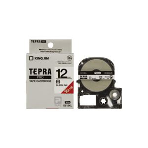 (業務用30セット) キングジム テプラ PROテープ/ラベルライター用テープ 【12mm】 ロングタイプ SS12KL ホワイト(白)
