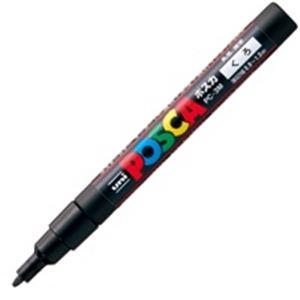 (業務用200セット) 三菱鉛筆 ポスカ/POP用マーカー 【細字/黒】 水性インク PC-3M.24