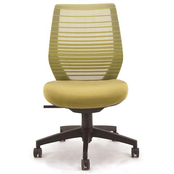 座面昇降式オフィスチェア/デスクチェア 【肘なし×グリーン】 メッシュ素材 リクライニング キャスター付き 『ビートル』【代引不可】