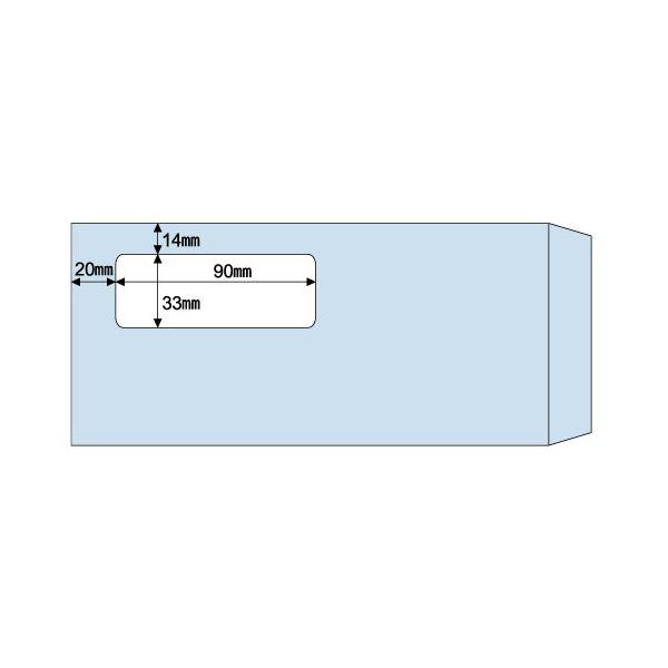 (まとめ) ヒサゴ 窓つき封筒 (給与明細書用/GB1150・BP1203専用) 215×100mm MF34T 1箱(1000枚) 【×2セット】