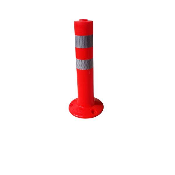 【5本セット】 PVC製視線誘導標/ソフトコーンH 【赤色】 高さ460mm アスファルト用アンカーセット【代引不可】