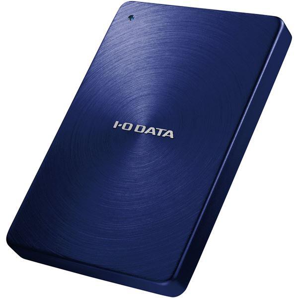 アイ・オー・データ機器 USB3.0/2.0対応 ポータブルハードディスク 「カクうす」 1.0TB ブルー HDPX-UTA1.0B