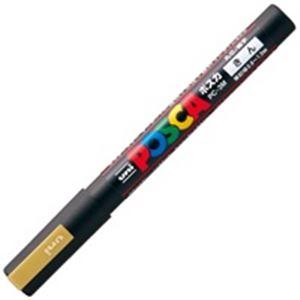 (業務用200セット) 三菱鉛筆 ポスカ/POP用マーカー 【細字/金】 水性インク PC-3M.25