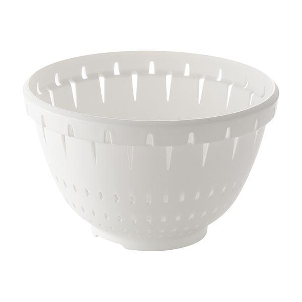 【30セット】 コランダー/水切りざる 【Lサイズ ホワイト】 材質:PP 『リベラリスタ』【代引不可】