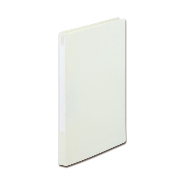 (まとめ) TANOSEE Zファイル(PP表紙) A4タテ 100枚収容 背幅20mm オフホワイト 1セット(10冊) 【×5セット】