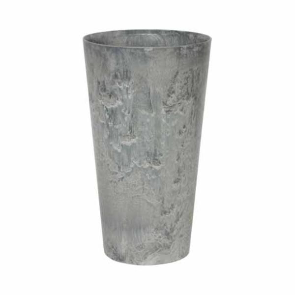 底面給水型 植木鉢/プランター 【トールラウンド型 グレー 直径37×高さ70cm】 底栓付 『アートストーン』 〔園芸用品〕