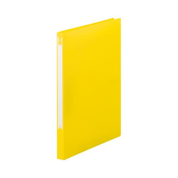 (まとめ) TANOSEE Zファイル(PP表紙) A4タテ 100枚収容 背幅20mm イエロー 1セット(10冊) 【×5セット】