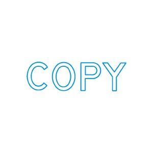 (業務用50セット) シヤチハタ Xスタンパー/ビジネス用スタンプ 【COPY】 藍 XBN-10063