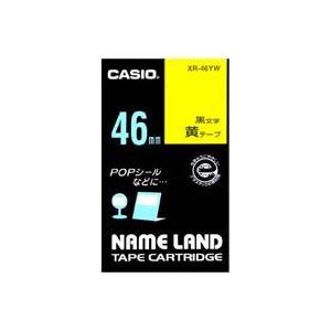 (業務用20セット) CASIO カシオ ネームランド用ラベルテープ 【幅:46mm】 XR-46YW 黄に黒文字