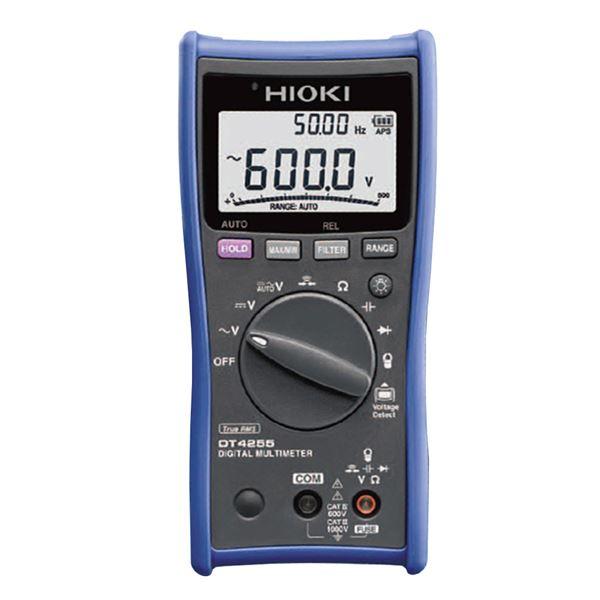 日置電機 デジタルマルチメータ(電圧測定端子にヒューズ付の安全型) DT4255【代引不可】