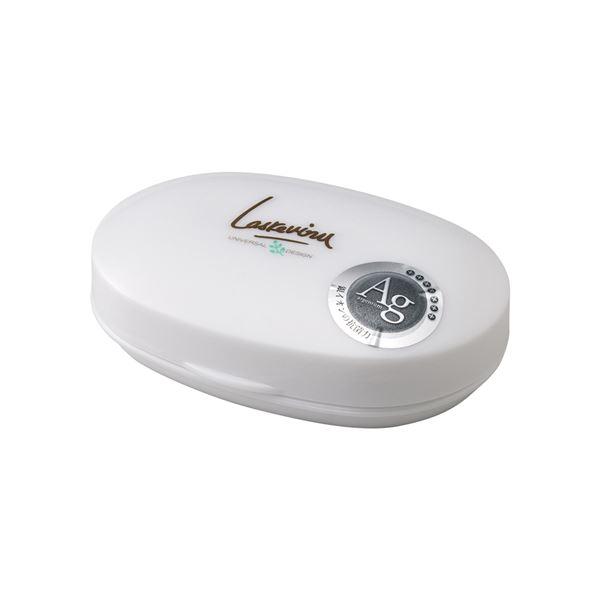 【30セット】 石鹸箱/石鹸置き 【プラチナホワイト】 材質:EVA 『AGラスレヴィーヌ』【代引不可】