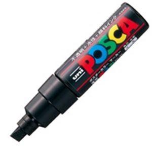 (業務用200セット) 三菱鉛筆 ポスカ/POP用マーカー 【太字/黒】 水性インク PC-8K.24