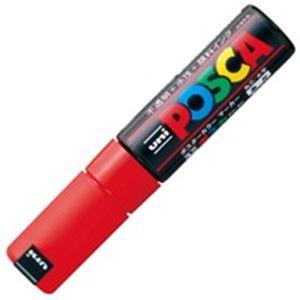 (業務用200セット) 三菱鉛筆 ポスカ/POP用マーカー 【太字/赤】 水性インク PC-8K.15