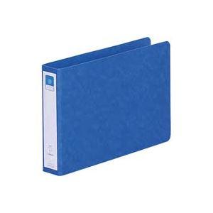 (業務用100セット) LIHITLAB ツイストリング式ファイル 【A5/2穴】 ヨコ型 F831UN-5 藍