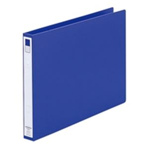(業務用50セット) LIHITLAB リング式ファイル 【B4/2穴】 ヨコ型 背幅:36mm F-875U-8 青