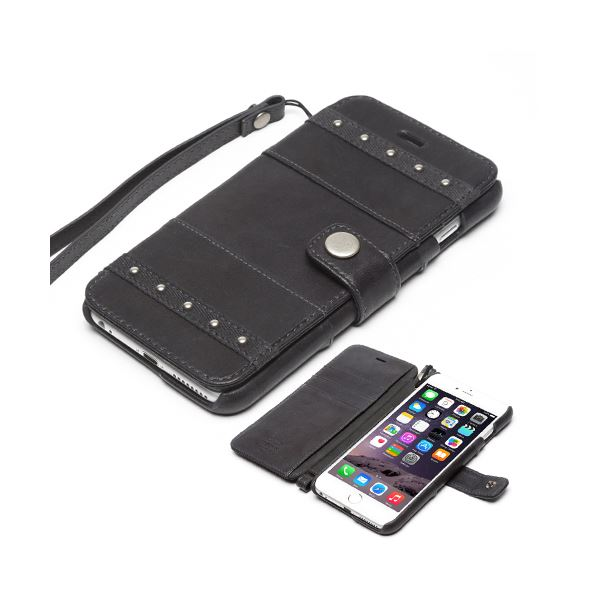 iPhone6s Plus/6 Plus ケース ZENUS Bohemian M Diary(ゼヌス ボヘミアンMダイアリー)アイフォン(dark grey)