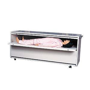 モデル人形格納ケース 【2体用】 幅208cm×奥行61cm×高さ84cm 木製 M-101-2【代引不可】