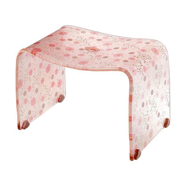 【4セット】 ロマンチック バスチェア/風呂椅子 【Mサイズ コーラルピンク】 脚ゴム付き 『フィルロ シュシュ』【代引不可】