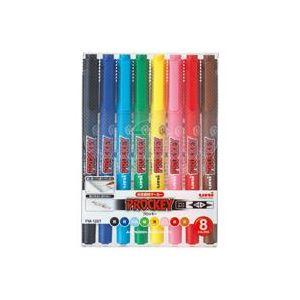 (業務用50セット) 三菱鉛筆 水性ペン/プロッキー 【細字/極細 8色セット】 水性顔料インク PM120T8CN