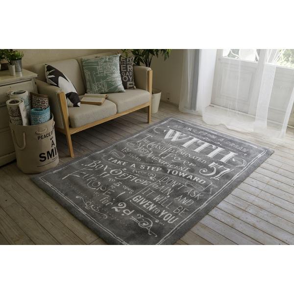 ヴィンテージ風 ラグマット/絨毯 【130cm×190cm グレー】 長方形 マイクロファイバー 『ノイル』 〔リビング〕【代引不可】