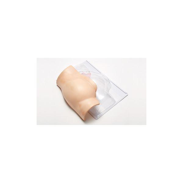 殿部筋肉内注射シミュレーター 「でんちゅうくん」 装着型 水注入可 ランプ/ブザー/収納ケース付き M-153-0【代引不可】