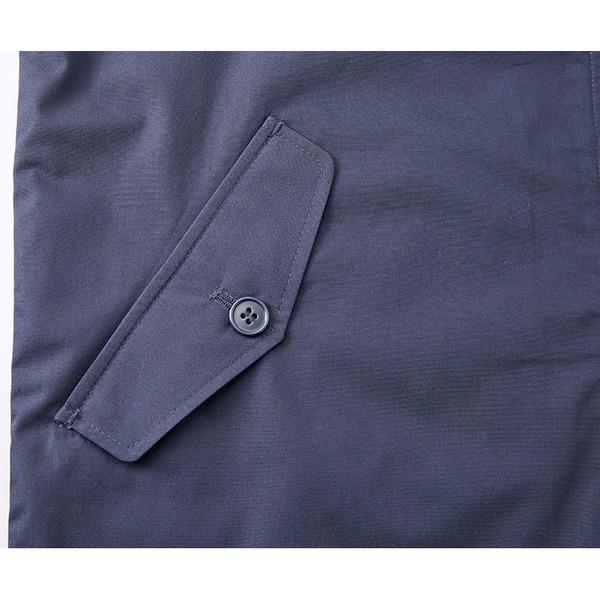 テカリを抑えた綿混・撥水加工、防風加工、裏地付スウィンブトップジャケット ネイビー L