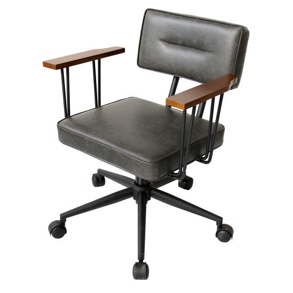 オフィスチェア(パソコンチェア/パーソナルチェア) 【FIVE-ファイブ】昇降式 高さ調節可 キャスター/肘付き