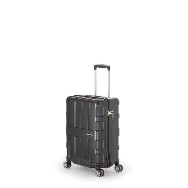 ファスナー式スーツケース/キャリーバッグ 【オールブラック】 40L 機内持ち込み可能サイズ アジア・ラゲージ 『MAX BOX』
