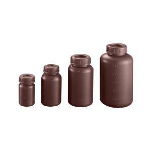 (まとめ)ポリ遮光瓶(広口) 中栓付S-1000W【×20セット】