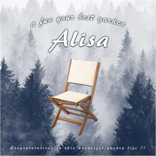 折りたたみガーデンチェア 【2脚セット】 ブラウン アカシア材使用 『Alisa-アリーザ-』 【完成品】【代引不可】