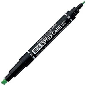 (業務用50セット) ZEBRA ゼブラ 蛍光マーカー/蛍光オプテックスケア 【緑】 10本入り 水性顔料インク WKCR1-G