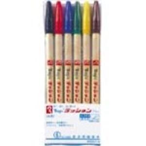 (業務用100セット) 寺西化学工業 水性サインペン/ラッションペン 【細字/6色セット】 M300C-6