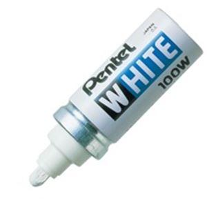 (業務用200セット) ぺんてる 油性マーカー ホワイト X100-WD 太字
