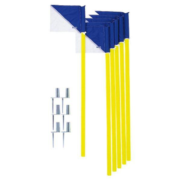 【モルテン Molten】 コーナーフラッグDX/サッカー用品 【6本セット】 パイプ:直径43mm×160cm フラッグ:39×29.5cm