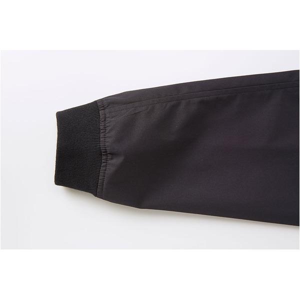 テカリを抑えた綿混・撥水加工、防風加工、裏地付スタジアムジャケット ブラック M