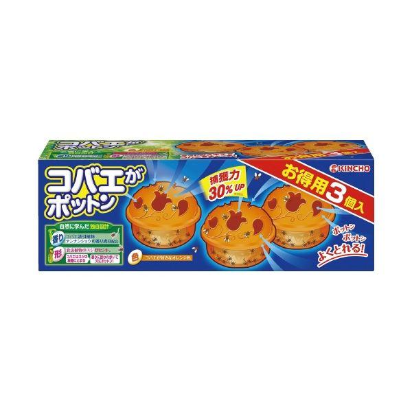 (まとめ)大日本除蟲菊 コバエがポットン置くタイプ 3個入【×30セット】
