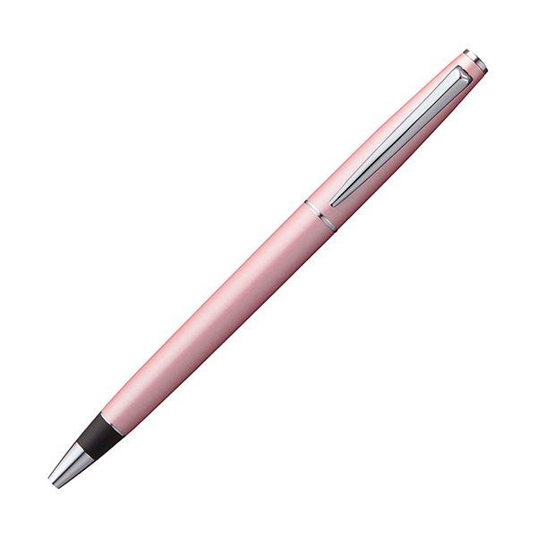 (まとめ) 三菱鉛筆 ジェットストリーム プライム回転繰り出し式シングルボールペン 0.5mm 黒 (軸色:ベビーピンク) SXK300005.68 1本 【×5セット】