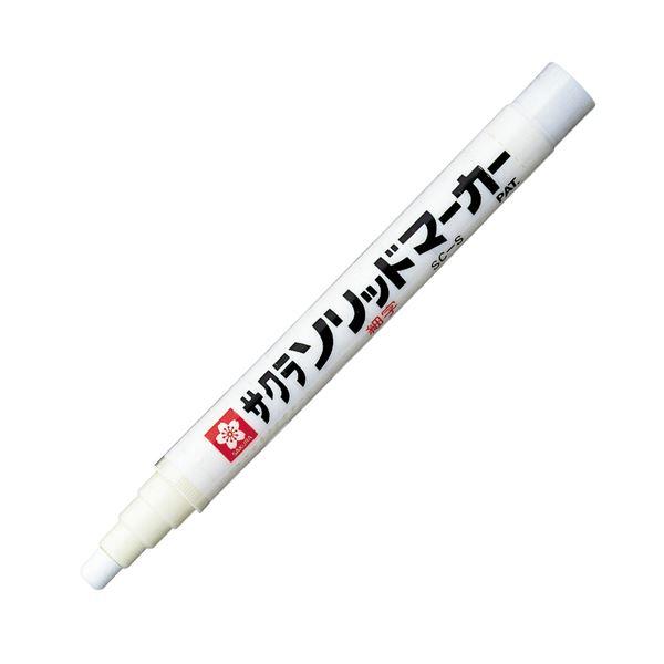 (まとめ)サクラクレパス ソリッドマーカー細字 SC-S#50 白【×100セット】