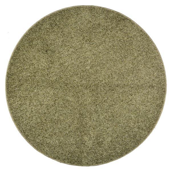 抗菌防臭 ラグマット/絨毯 【160R グリーン】 円形 日本製 折りたたみ 防ダニ ホットカーペット 通年可 『デタント』【代引不可】